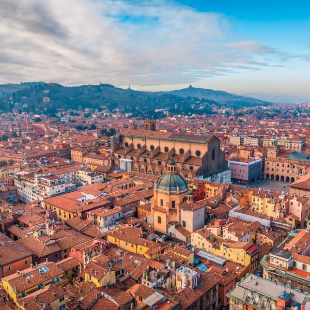 """Bologna areal view"" stock image"