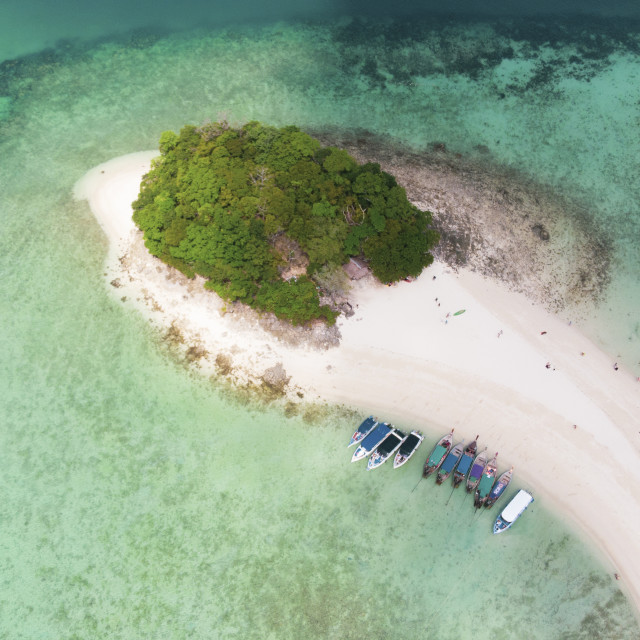 """""""Aerial of a Shoe Island, Thailand"""" stock image"""