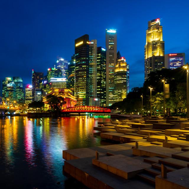 """Marina Bay Financial District"" stock image"