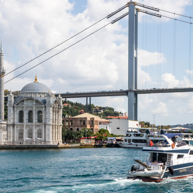 """""""The Ortaköy Mosque"""" stock image"""