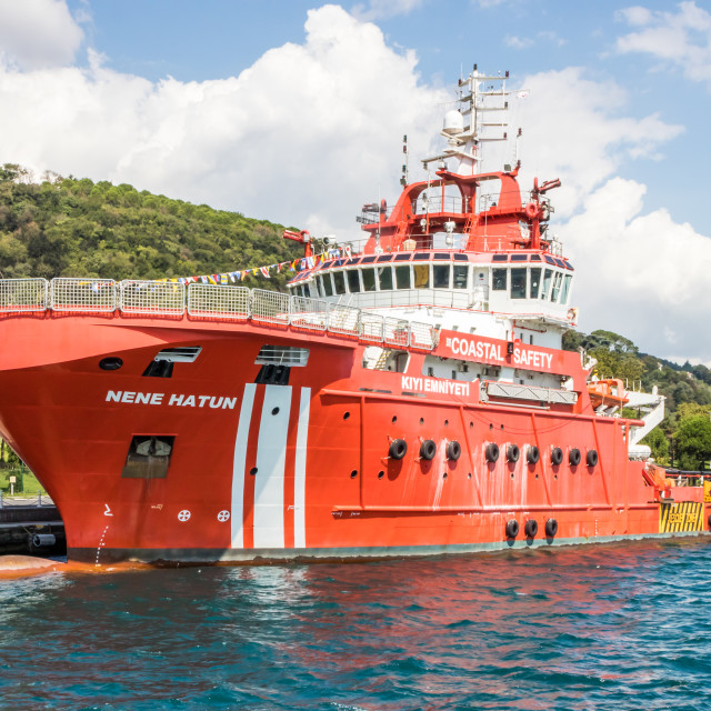 """The Nene Hatun coastal safety vessel."" stock image"