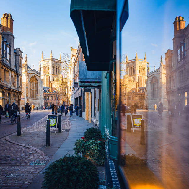 """Reflections from Cambridge UK."" stock image"