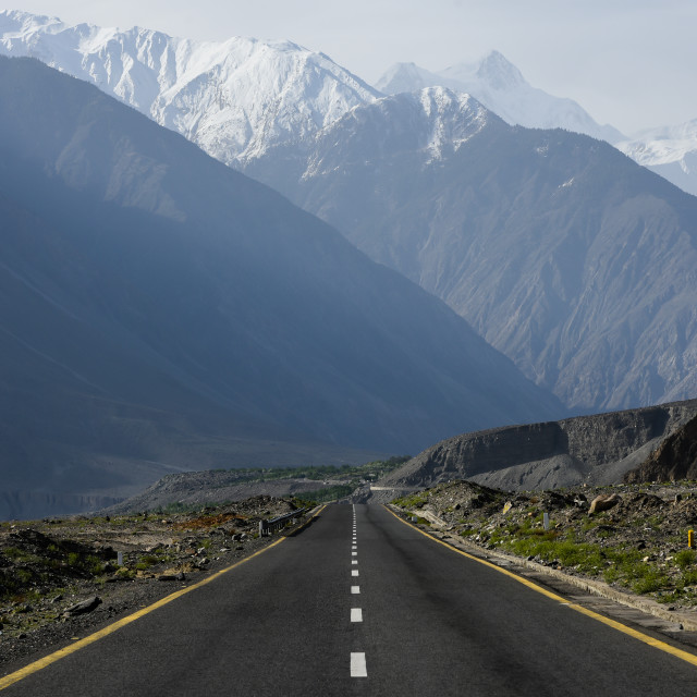 """Karakoram Highway"" stock image"