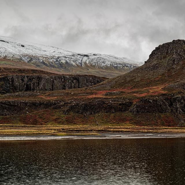 """""""Mountains in Borgarfjordur Eystri, Iceland"""" stock image"""