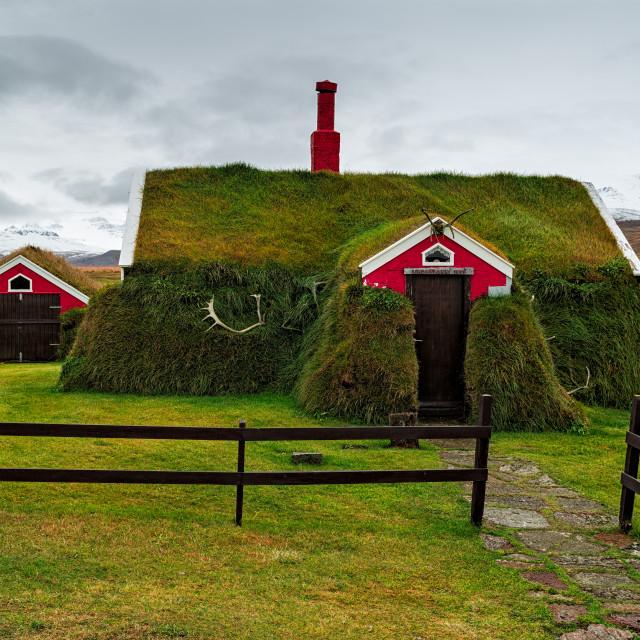 """Lindarbakki in Borgarfjordur Eystri, Iceland"" stock image"