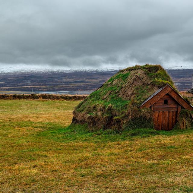 """""""Geirsstadakirkja in Borgarfjordur Eystri, Iceland"""" stock image"""