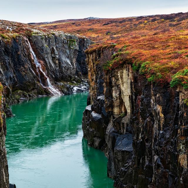 """Jokulsa a Dal river canyon, Iceland"" stock image"