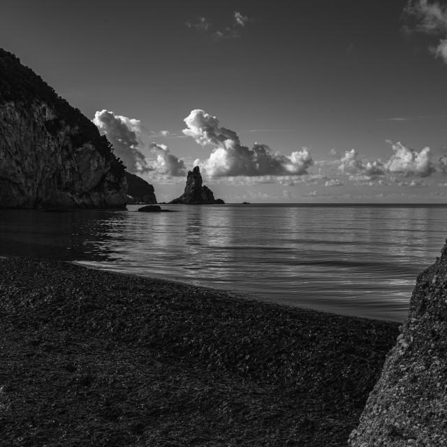 """Corfu Rocks"" stock image"