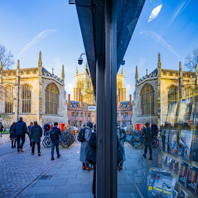 """St John's Street Cambridge UK."" stock image"