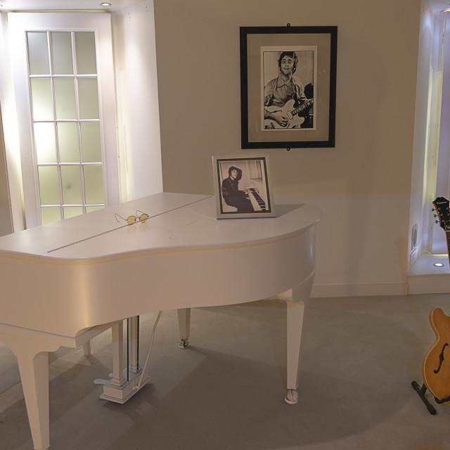 """""""A tribute to John Lennon."""" stock image"""
