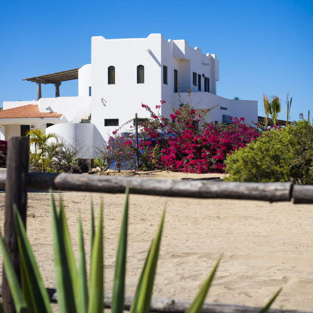 """White House in Baja"" stock image"