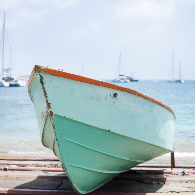 """Caribbean Fishing Boat"" stock image"