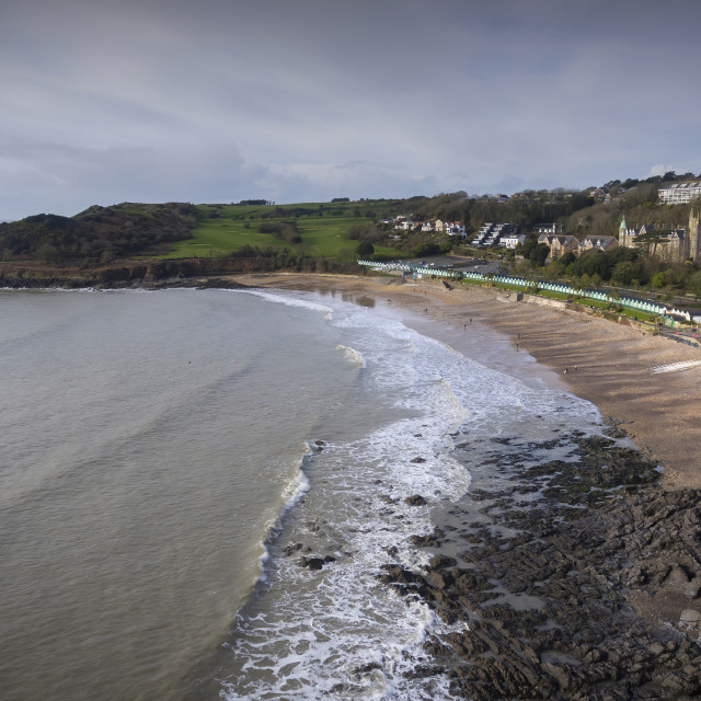 """Langland Bay in Swansea UK"" stock image"