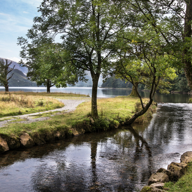 """Buttermere Lake Cumbria"" stock image"