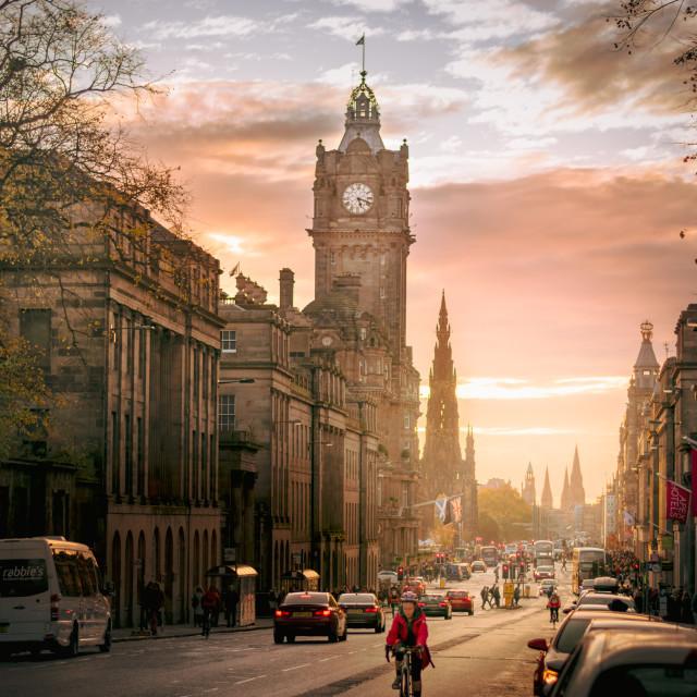 """Edinburgh - The Day Ends"" stock image"