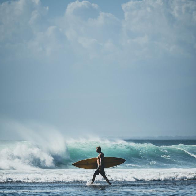 """""""BALANGAN SURF WALK"""" stock image"""
