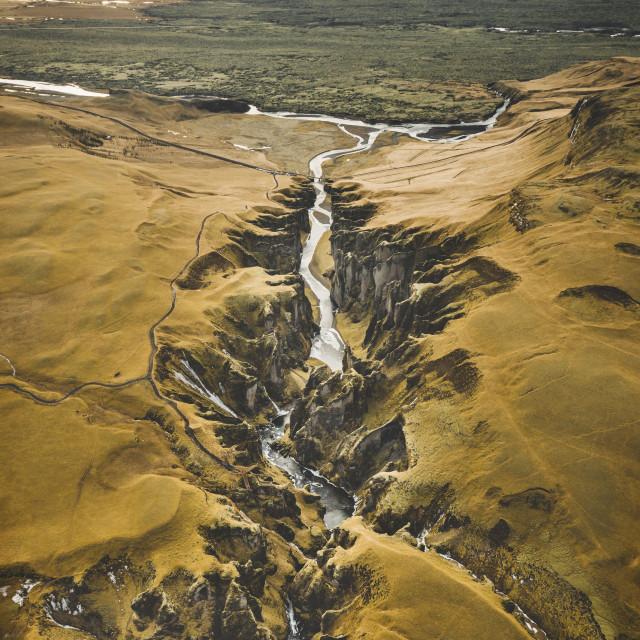"""Fjaðrárgljúfur Canyon #1"" stock image"
