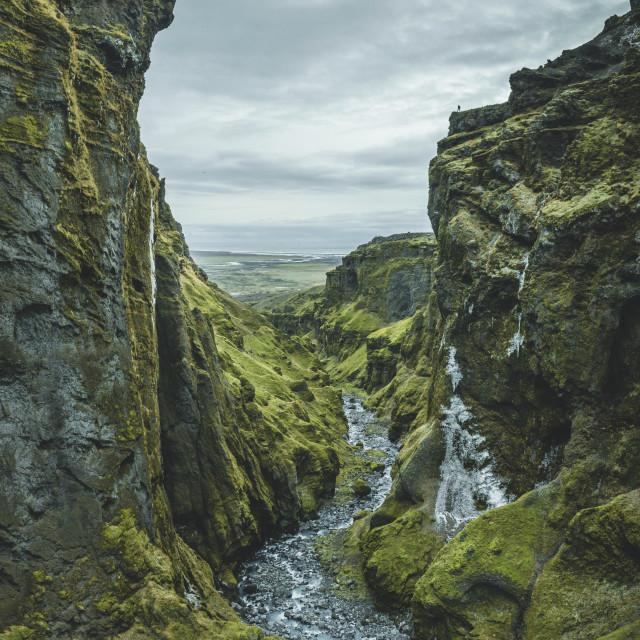 """Múlagljúfur Canyon"" stock image"