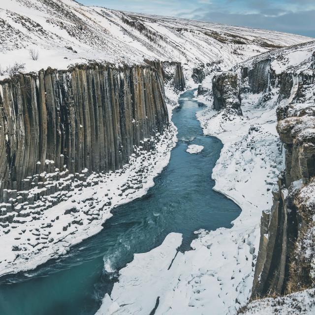 """Stuðlagil Canyon"" stock image"