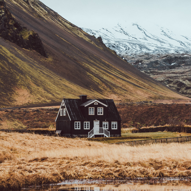"""Cabin in the middle of nowhere"" stock image"