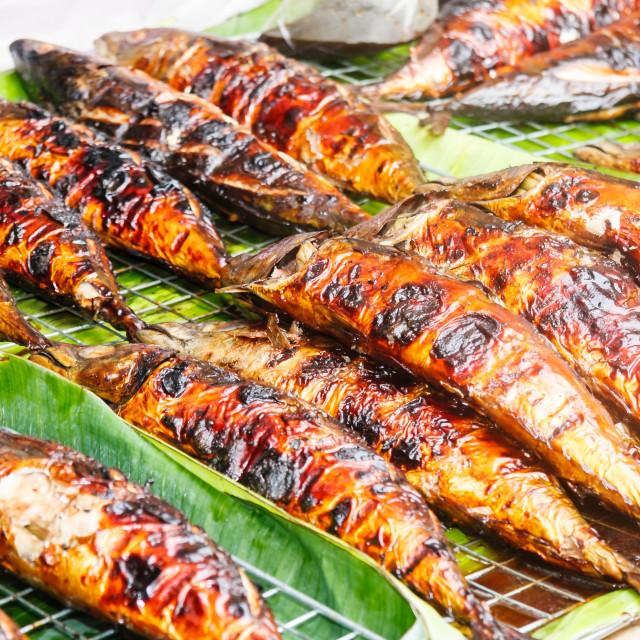 """""""Barbecued fish on Phuket weekend market"""" stock image"""