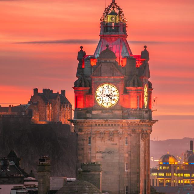 """Winter Evening in Edinburgh"" stock image"