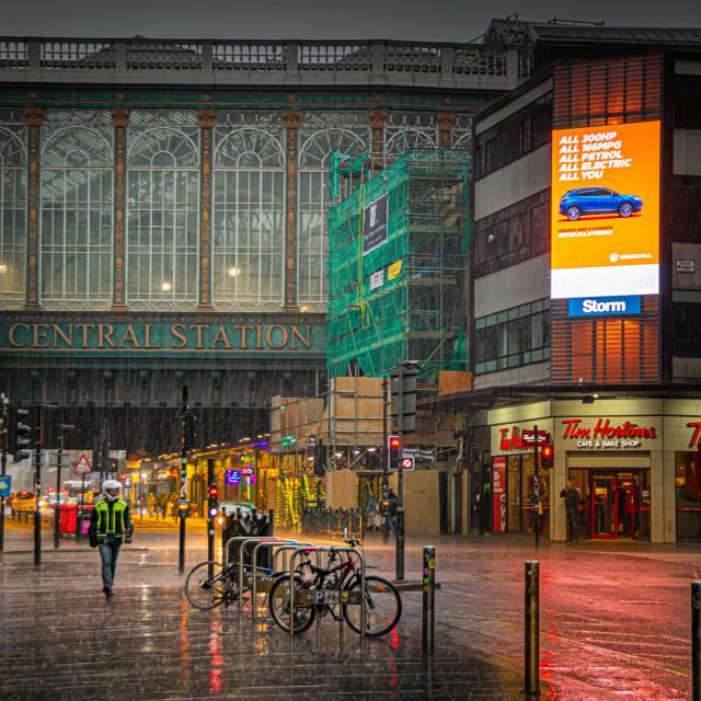 """Rainy Glasgow"" stock image"