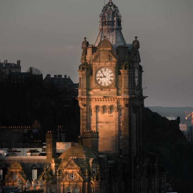 """Morning Sun Hits Edinburgh"" stock image"