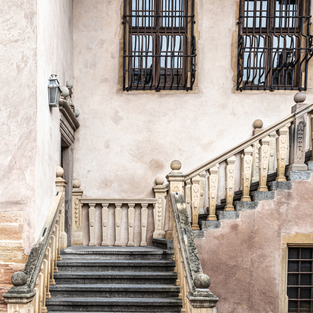 """""""Stairs. Castle. Colmar. Ancient. Stone. Old"""" stock image"""