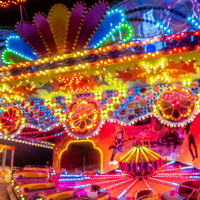 """Colorful Rides on the Seaside Heights Boardwalk"" stock image"