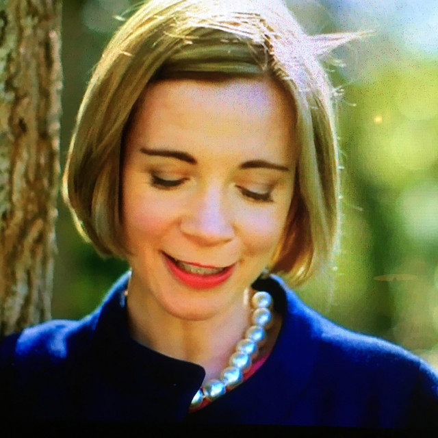 """Lucy Worsley, English Historian."" stock image"