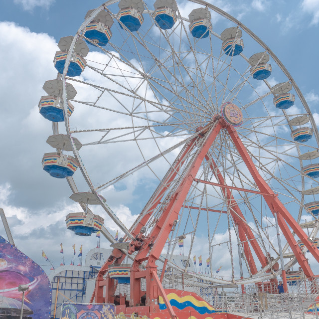 """Ferris Wheel at the County Fair"" stock image"