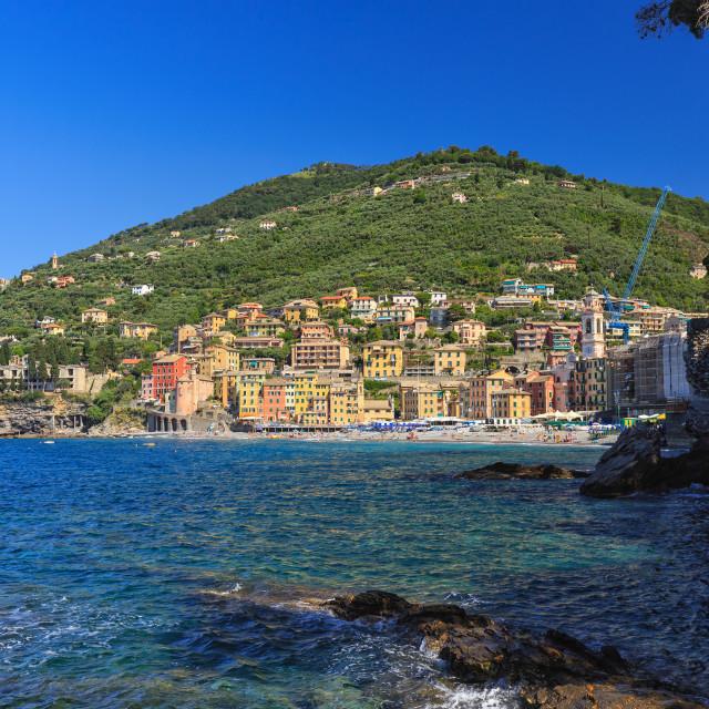 """Sori village, Italy"" stock image"