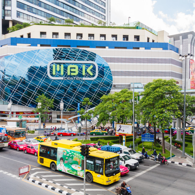 """""""Traffic outside the MBK center."""" stock image"""