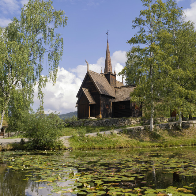 """""""Stavechurch in Norway"""" stock image"""