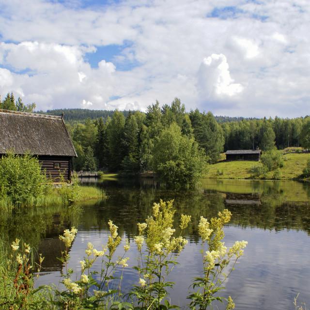 """""""Buildings in Maihaugen"""" stock image"""