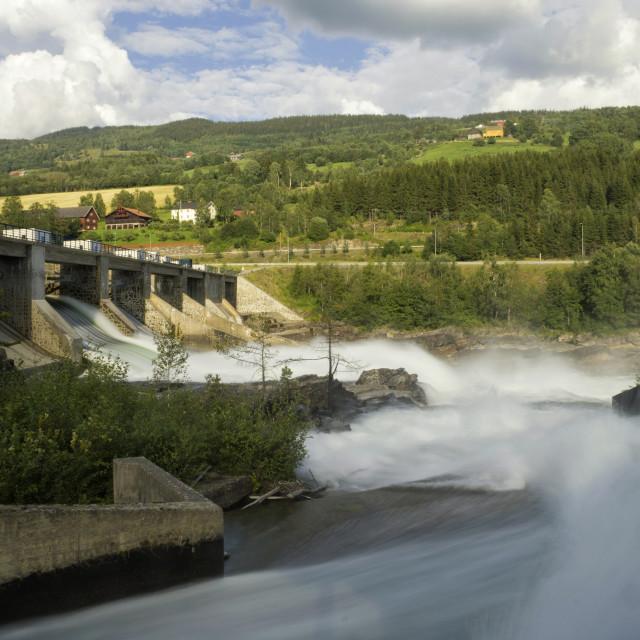 """""""Hunderfossen power station"""" stock image"""