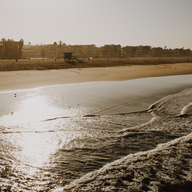 """Venice Beach At Sunrise, Los Angeles, California"" stock image"