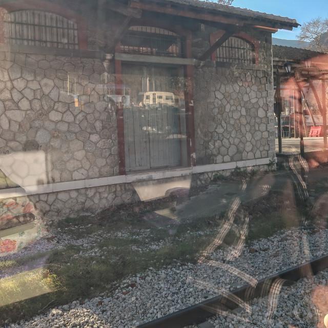 """Train passenger"" stock image"
