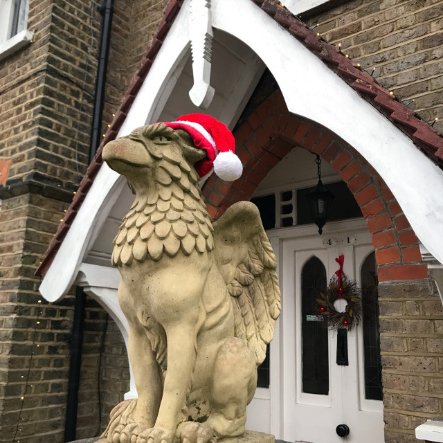 """""""Christmas Griffin"""" stock image"""