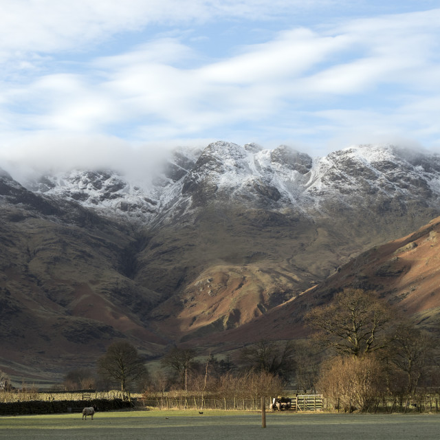 """""""Crinkle Crags in Winter, Lake District, Cumbria, UK"""" stock image"""