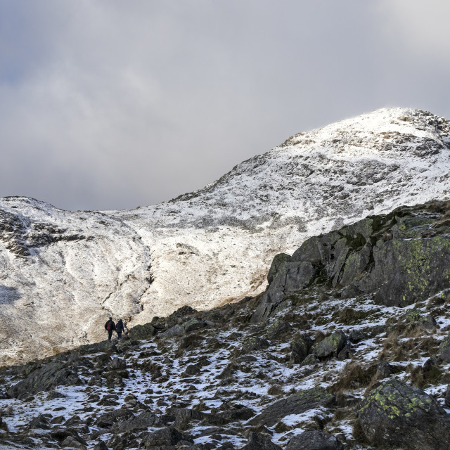"""""""Bow Fell in Winter, Lake District, Cumbria,UK"""" stock image"""