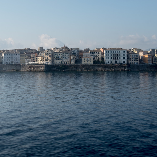 """""""Corfu Town From The Sea"""" stock image"""