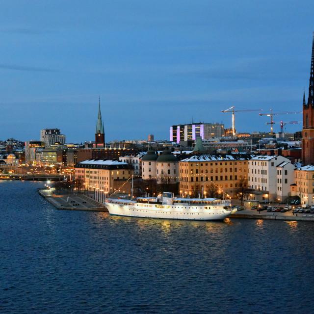 """Port Stockholm"" stock image"