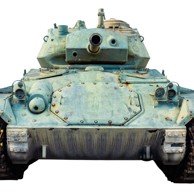"""""""Isolated US Army WWII Tank"""" stock image"""