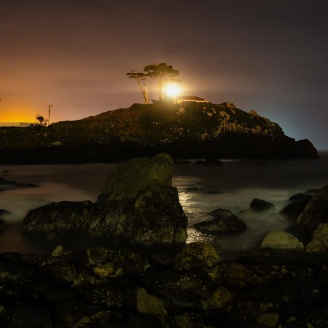 """Battery Point Light House, Crescent City, California, USA"" stock image"