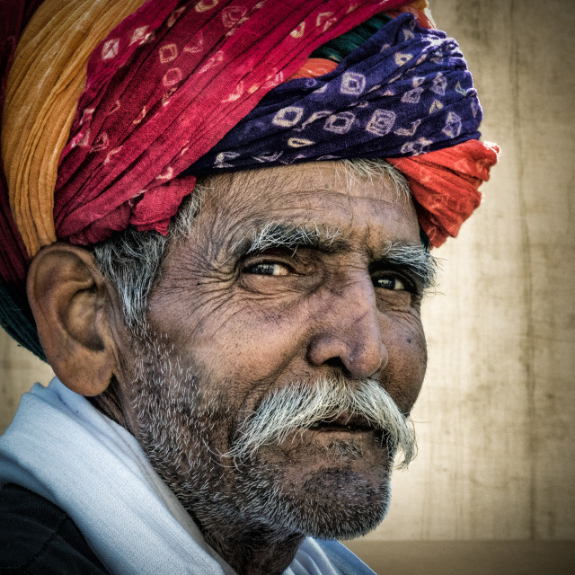 """A man with turban"" stock image"