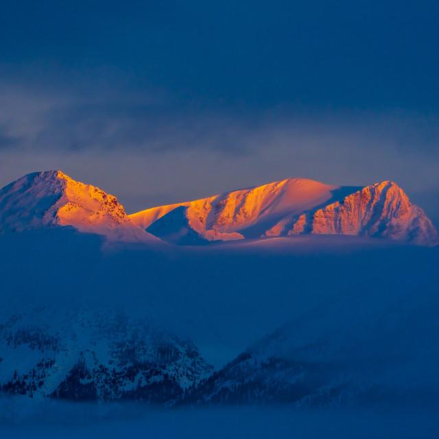 """Alpen Glow"" stock image"