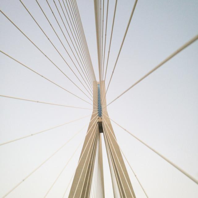 """Greek Bridge"" stock image"