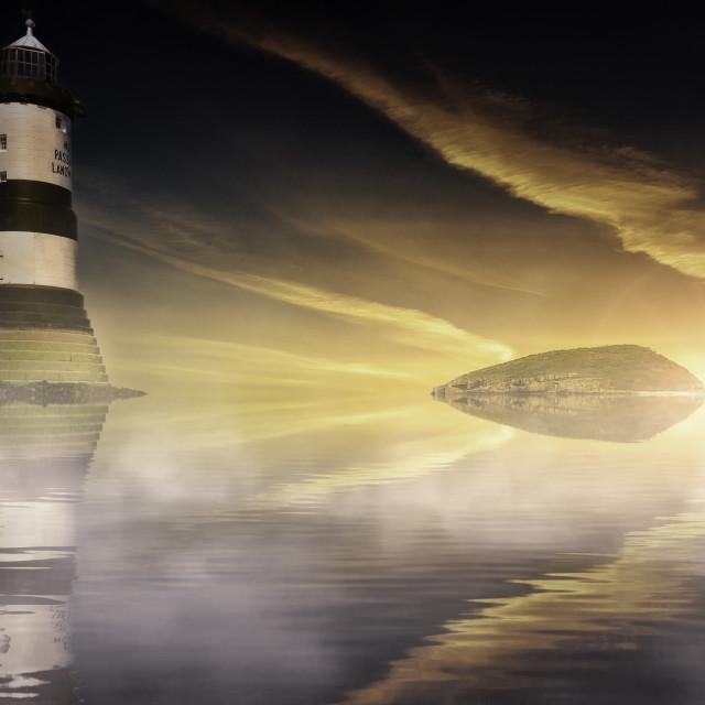 """Penmon Lighthouse"" stock image"